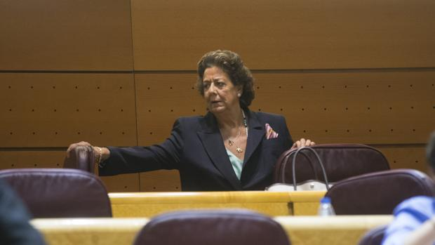 Rita Barberá, durante un pleno en el Senado