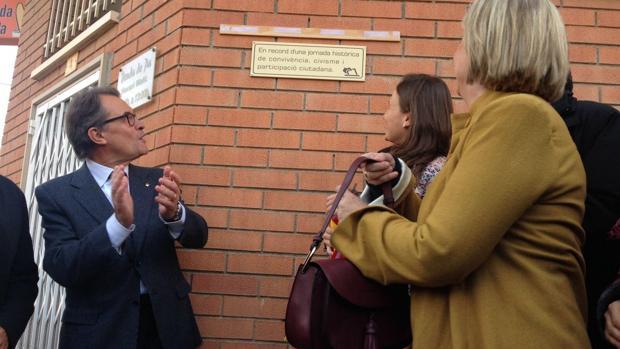 El expresidente de Cataluña, durante la inauguración