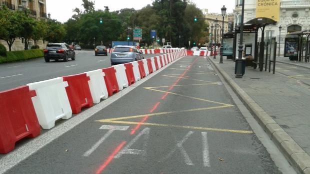 Imagen de la señalización del carril bici