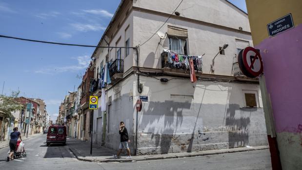 Imagen de la zona declarada Bien de Interés Cultural (BIC) en el Cabanyal
