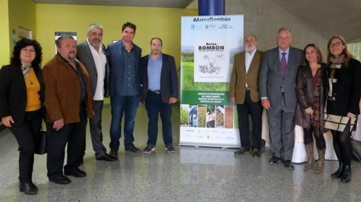 Representantes del sector hostelero alicantino, en la presentación del nuevo arroz