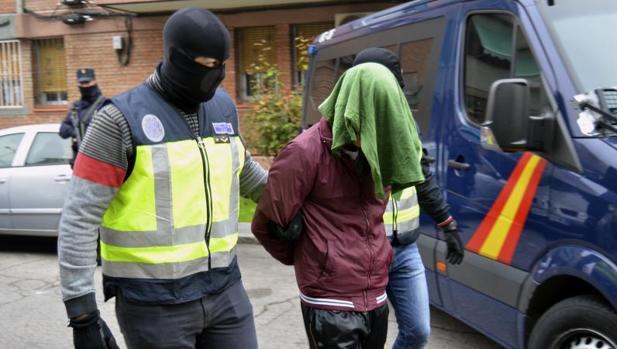 Uno de los detenidos este sábado en Madrid