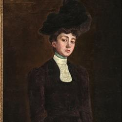 Retrato de María Luisa Güell pintado por Llüisa Vidal