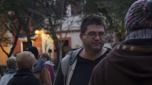Carlos Sánchez Mato, en la reciente protestas por el desalojo del Patio Maravillas