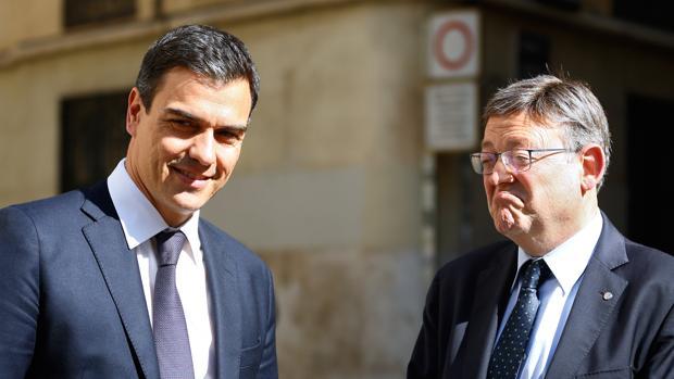 Pedro Sánchez y Ximo Puig, en una imagen tomada el pasado mayo en Valencia