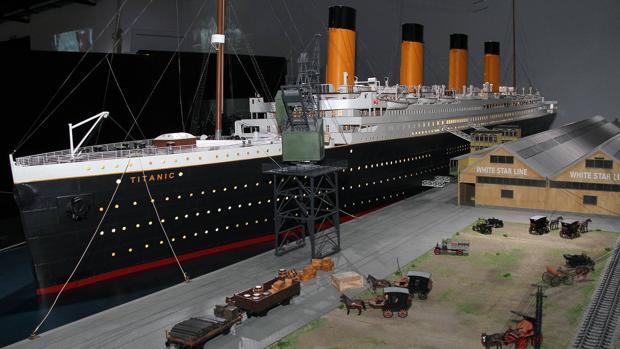 Maqueta del Titanic en la exposición que puede verse en León