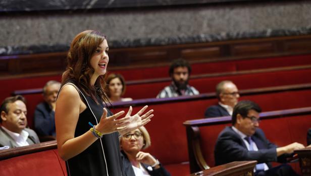 Imagen de la portavoz del PSPV en el Ayuntamiento de Valencia, Sandra Gómez
