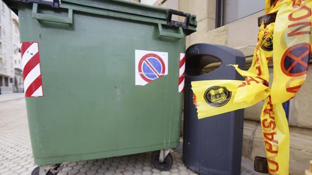El contenedor donde fue hallado el bebé en San Sebastián