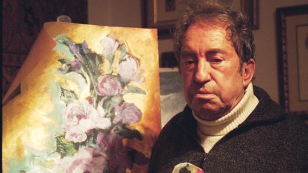 El pintor Carlos Santiesteban en su casa de Guadalajara en el año 2008