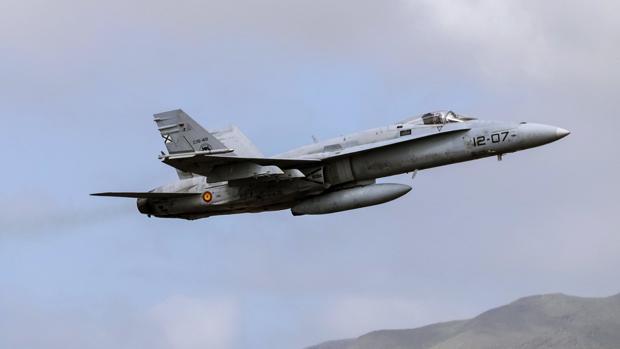 Un caza F-18, del Ejército del Aire, en una imagen de archivo