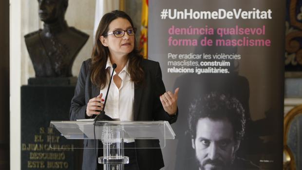 Mónica Oltra, en la presentación de la campaña #UnHomeDeVeritat