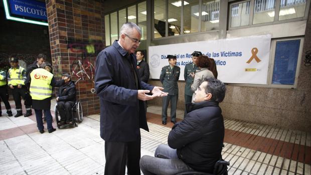 El delegado del Gobierno, el pasado lunes en un acto por las víctimas de accidentes