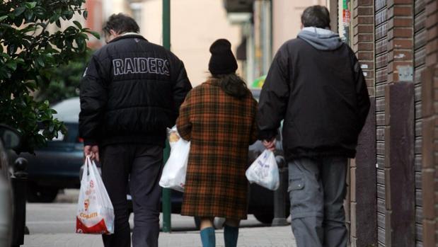 Personas sin hogar en las calles de Valencia