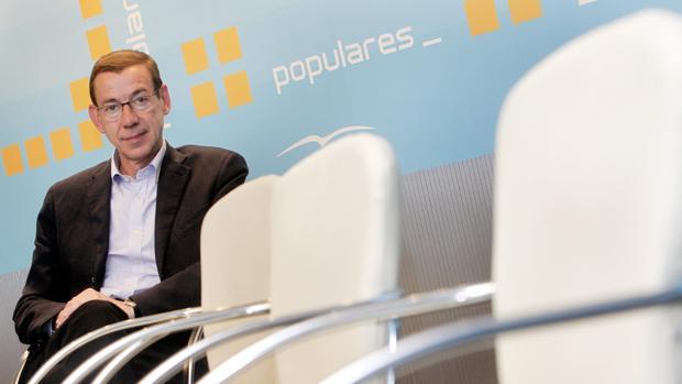 Antonio Clemente, en la sede del PP valenciano, en una imagen de archivo