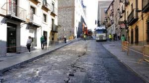 La cuesta de Carlos V se abrirá al tráfico la semana que viene tras las obras