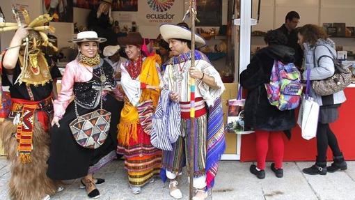 Puesto de Ecuador en la Feria Internacional de las Culturas, en el centro cultural Conde Duque