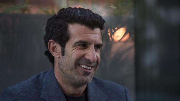 Luis Figo, en una reciente entrevista con ABC