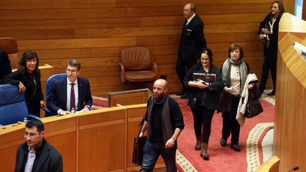 Sesión parlamentaria, este martes, con Feijóo y Villares en el hemiciclo