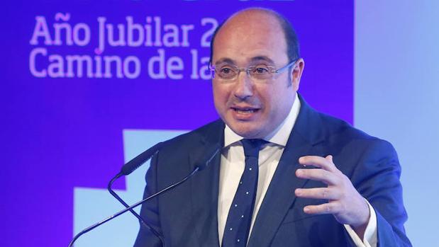 El presidente murciano, Pedro Antonio Sánchez