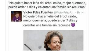 Un representante de Podemos sugiere «quemar» a Rita Barberá para «calentar a una familia sin recursos»