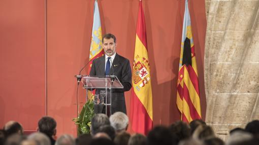 Imagen del Rey durante su discurso