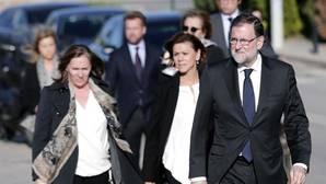 Rajoy, en el tanatorio: «Fue un enorme honor ser amigo de Rita Barberá»