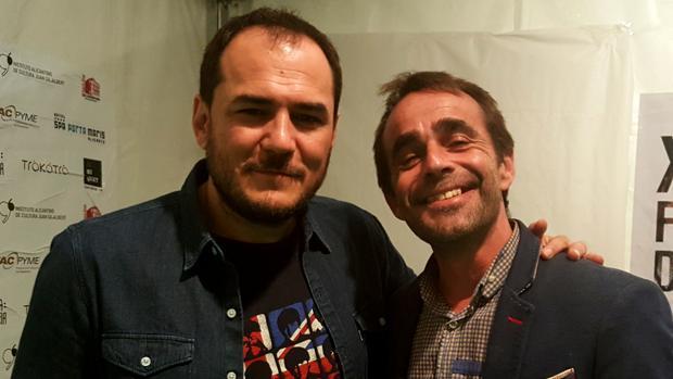 Juanjo Cervetto, con el cantautor Ismael Serrano