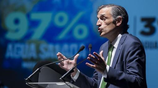 Francisco Bartual, director general de Hidraqua, abriendo el foro