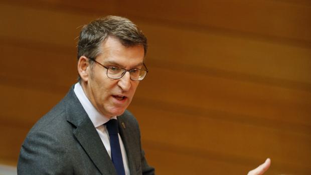 Alberto Núñez Feijóo, este miércoles durante su comparecencia parlamentaria