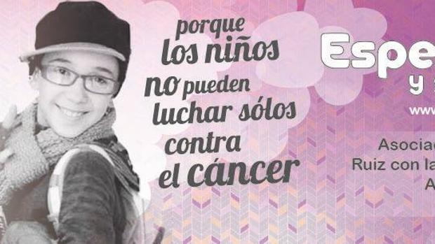 Imagen del cartel de la asociación contra el cáncer infantil