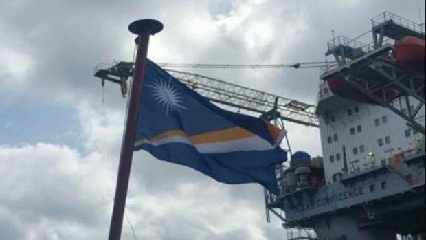 Buque con bandera de Islas Marshall
