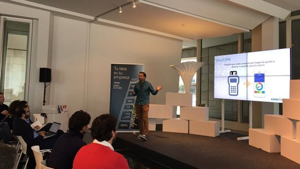 Momento de la presentación de la aplicación, en el Galicia Open Future
