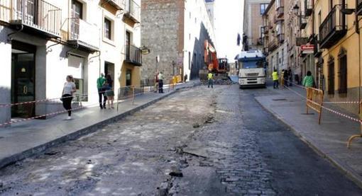 Aspecto que presentaba la calle antes de las obras