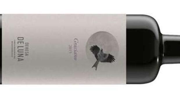 Botella y etiqueta del vino Dehesa de Luna Graciano 2014
