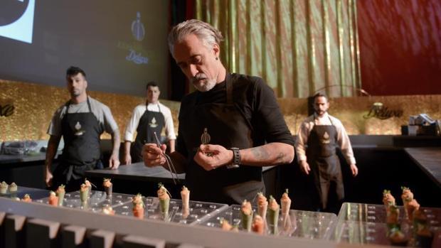 Sergi Arola, ayer, durante la presentación de su menú en el cine Capitol