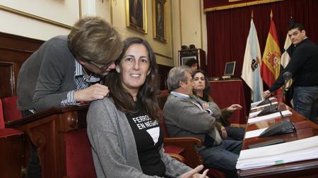 Las concejalas no adscritas Rosa Méndez y María García Lemos