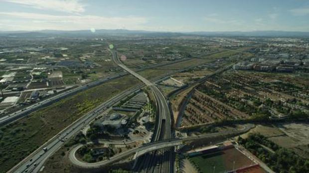 Imagen del trazado al paso por Valencia
