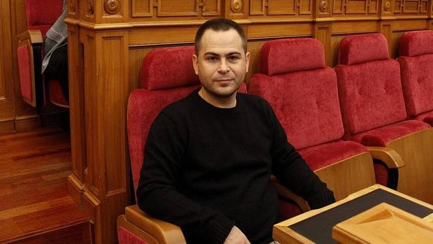 David Llorente en las Cortes de Castilla-La Mancha