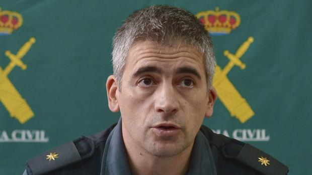 El comandante José Antonio Vidal informó de la operación en rueda de prensa