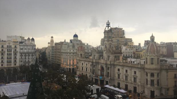 Imagen del cielo de Valencia esta mañana