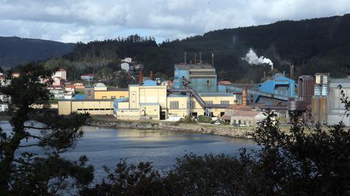 Aspecto general de la factoría de Ferroatlántica en Cee