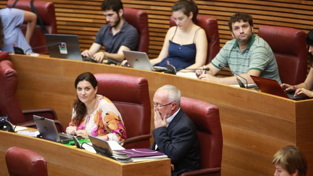 Imagen de archivo del grupo parlamentario Podemos en Las Cortes Valencianas