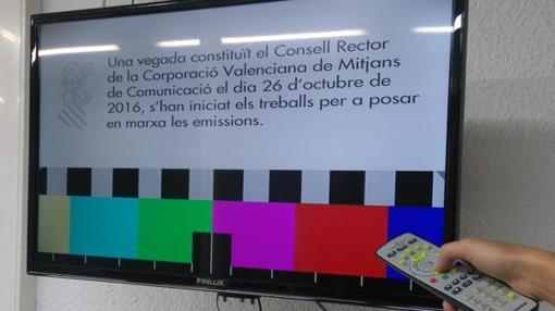 Imagen de la carta de ajuste de la televisión valenciana
