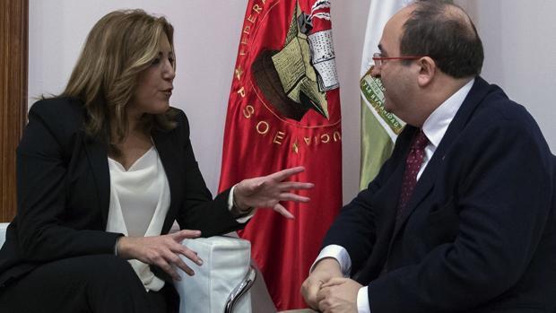 Reunión entre Susana Díaz y Miquel Iceta