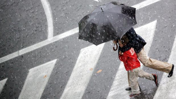 Imagen de un día de lluvia este otoño en Valencia