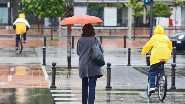 Imagen de las lluvias de este otoño en Valencia