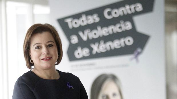 Susana López Abella, responsable de Igualdade de la Xunta, momentos antes de la entrevista con ABC