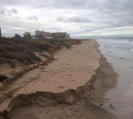 Estado en el que ha quedado la playa