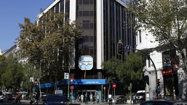 Imagen de la sede nacional del PP