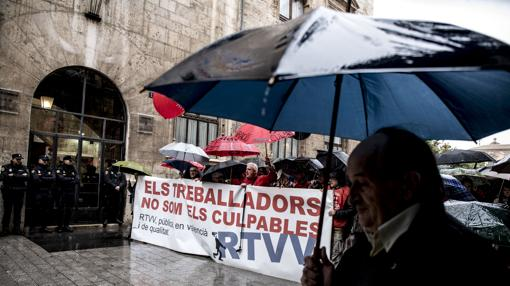 Imagen de la manifestación celebrada este martes en Valencia